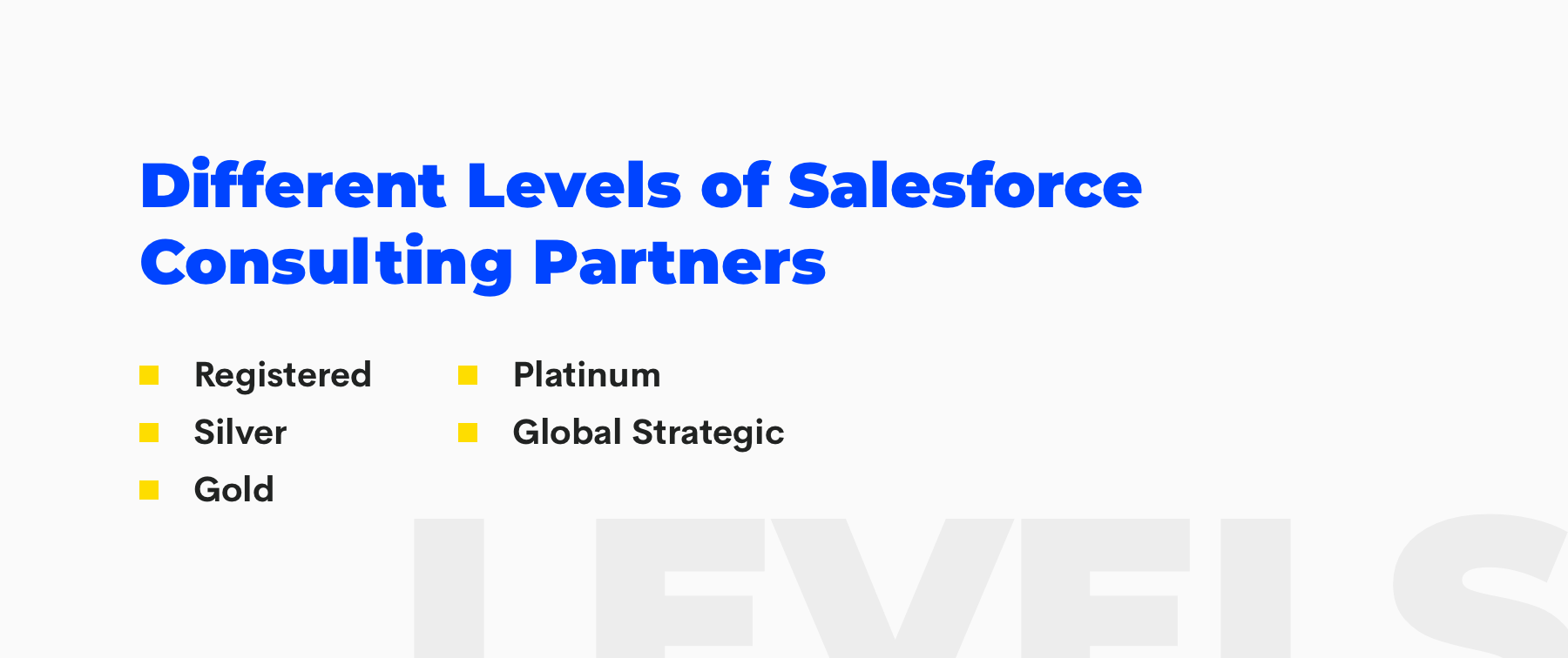 salesforce consulting parter tiers
