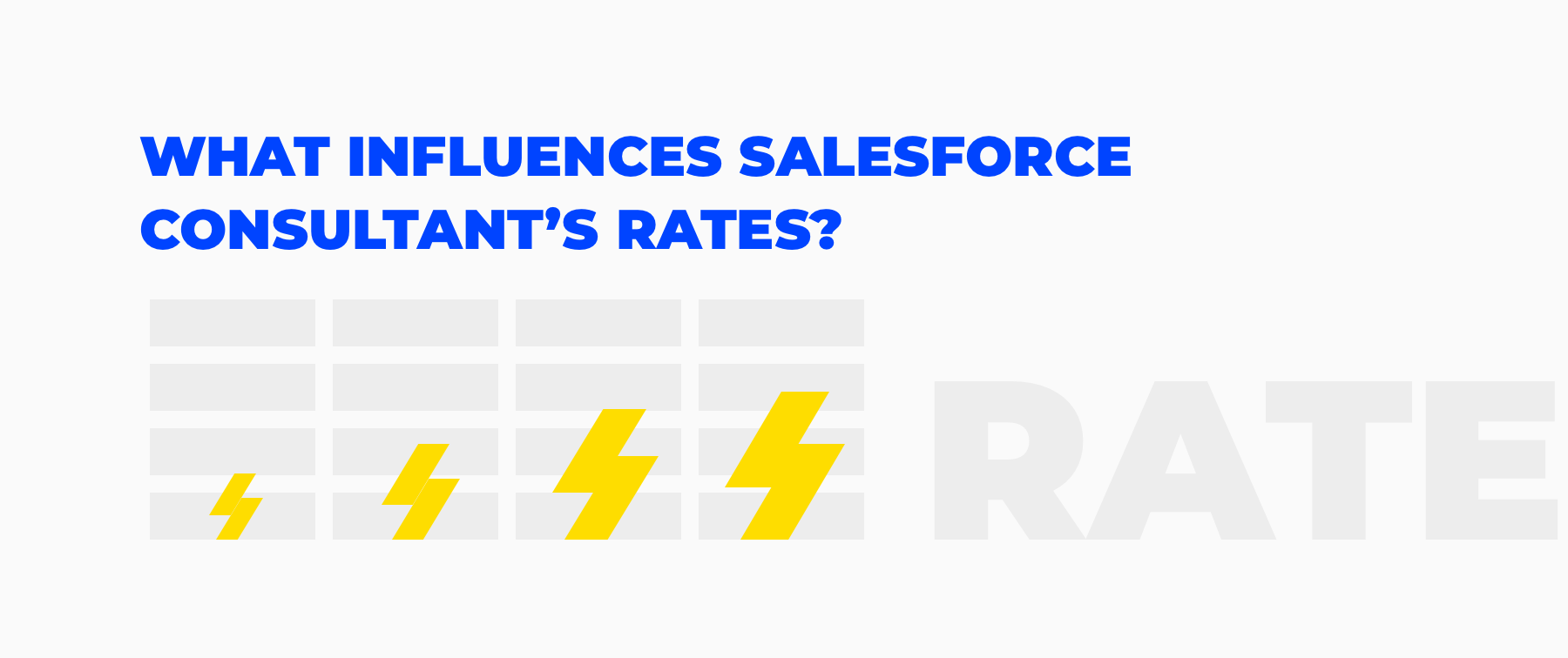 salesforce consulting rates factors