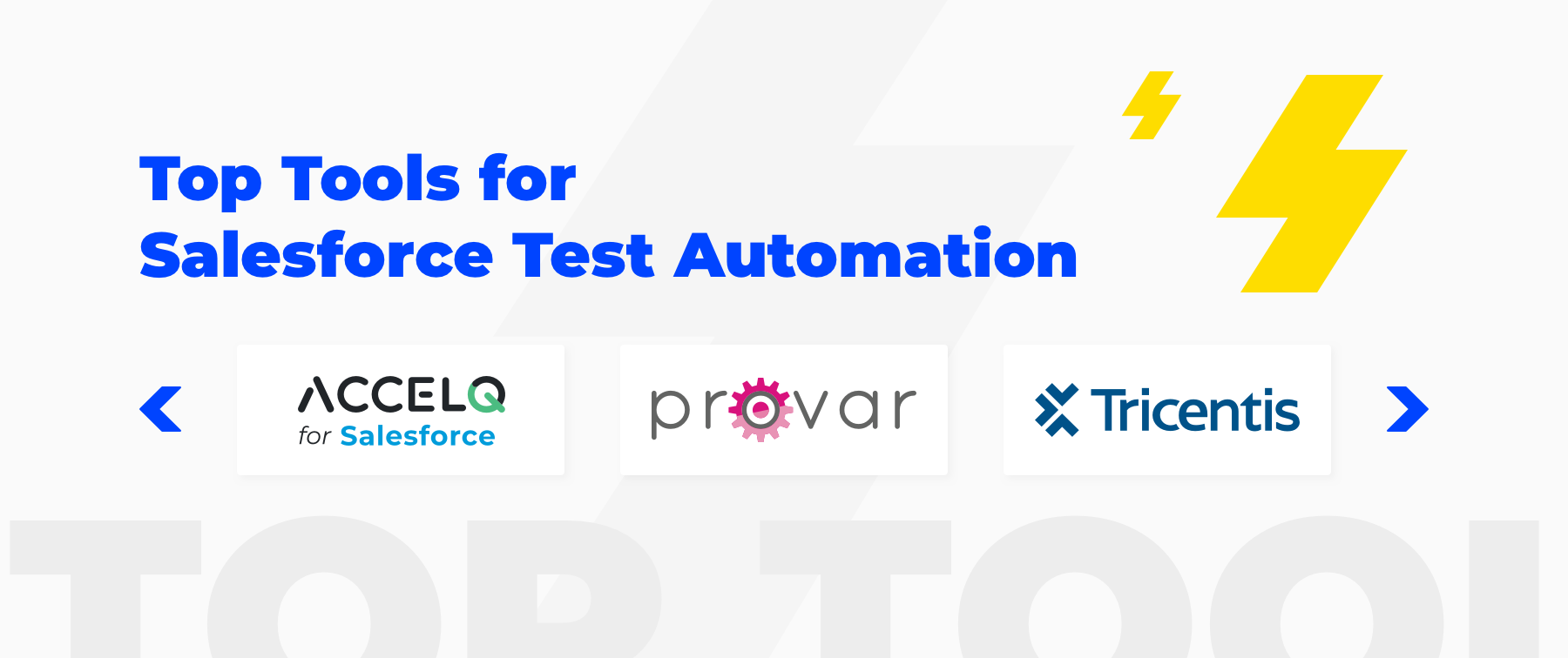 best tools for Salesforce test automation